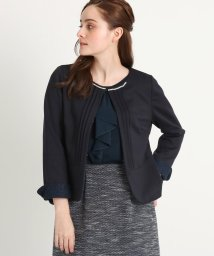 Couture Brooch/【ママスーツ/入学式 スーツ/卒業式 スーツ】ポンチパール調ノーカラージャケット/502712084