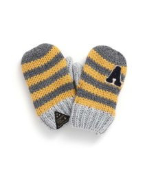 ampersand/ニットボーダーワッペン付き手袋/502533015