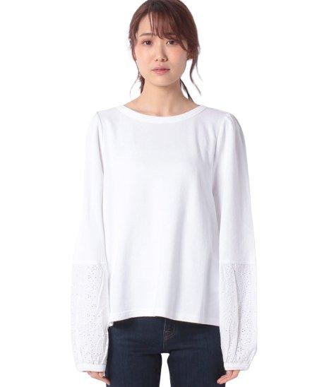 袖切り替えラウンドネック長袖Tシャツ・カットソー