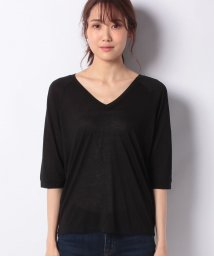 SISLEY/モダールVネック7分袖Tシャツ・カットソー/502703795