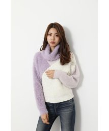 rienda/Bicolor turtle Knit TOP/502712841