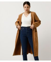 AZUL by moussy/FAKE SUEDE COLLARLESS COAT/502712843