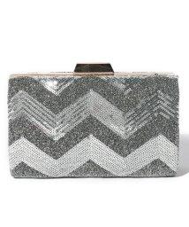 STYLEBLOCK/スパンコール×ボックス型パーティークラッチバッグ/502701703