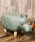 En Fance/アニマルモチーフのスツール Rhino リノ(サイ)カーキ/502710313