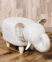En Fance/アニマルモチーフのスツール Elephant エレファント ベージュ/502710314