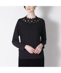 Liliane Burty/チュール×レース刺繍 ハイネックTシャツ/502713366
