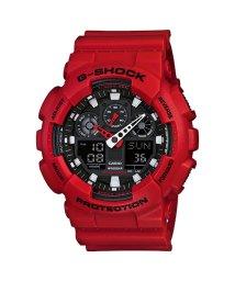 G-SHOCK/【G-SHOCK】GA-100シリーズ / デジタル&アナログ / GA-100B-4AJF (レッド×ブラック)/502716230