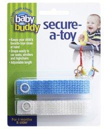 Baby Buddy/Baby Buddy ベビーバディ おもちゃストラップ2色各1本組 ブルー/ホワイト/502716625