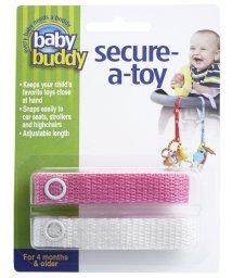 Baby Buddy/Baby Buddy ベビーバディ おもちゃストラップ2色各1本組 ピンク/ホワイト/502716626