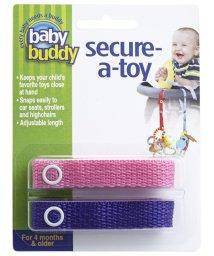 Baby Buddy/Baby Buddy ベビーバディ おもちゃストラップ2色各1本組 ピンク/パープル/502716627