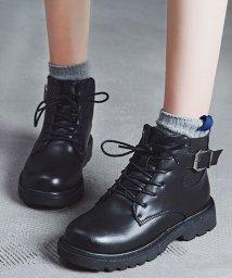 miniministore/ショート ブーツ レディース 靴 ブーティー 裏起毛 レースアップ 秋冬 韓国ファッション/502716906