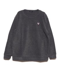 GUESS/ゲス GUESS SMALL TRIANGLE LOGO POLAR FLEECE SWEAT (CHARCOAL GREY)/502716975
