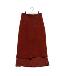 STYLEBLOCK/スタイルブロック STYLEBLOCK フェイクウールプリーツ切替スカート (テラコッタ)/502717048