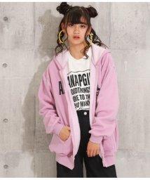 ANAP GiRL/ロゴ裏シャギーパーカー/502690407
