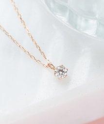 Phoebe/【K10RG】グラインダイヤモンドネックレス/502700231