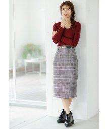 INGNI/起毛グレンチェックナロースカート        /502707386