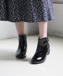 Lirio blanco/ブーツ エナメルサイドゴア レインブーツ レディース ショート 4cm ヒール サイドゴア 防水 雨天兼用 エナメル 歩きやすい 履きやすい 楽ちん シンプル /502719354