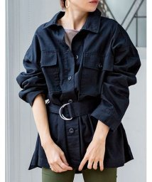 GROWINGRICH/[アウター]ベルト付きツイルカバーオール[190657]シャツとしても羽織としても◎/502719869