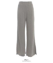 GROWINGRICH/[ボトムス]ケーブル編みニットパンツ[190684]印象的な足もとで感じる季節感/502719871