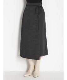 Mila Owen/ラップ風台形サテンスカート/502719914