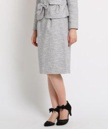 Couture Brooch/【WEB限定サイズ(LL)あり/ママスーツ/入学式 スーツ/卒業式】ツータックツィードミディスカート/502720142
