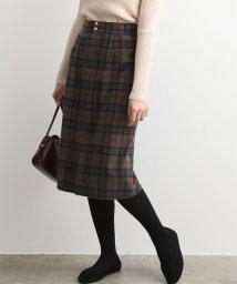 ViS/チェック切替ポケットタイトスカート/502720147