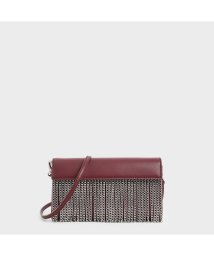 CHARLES & KEITH/チェーンフリンジクラッチ / Chain Fringe Clutch (Burgundy)/502720226