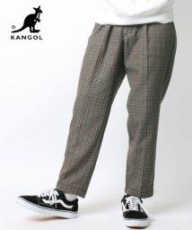 LAZAR/【19AW】新作 KANGOL/カンゴール チェックワイドテーパードパンツ/502647229