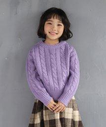 b-ROOM/【オンライン限定】ウォッシャブル ケーブル編みセーター/502699980
