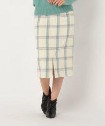 NOLLEY'S/[新色追加]チェックビーバータイトスカート/502707040