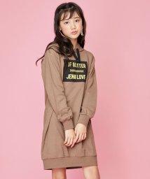 JENNI love/メッシュプリントパーカーワンピ/502721150