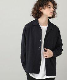 JUNRed/メランジビエラオープンカラーシャツ/502650996