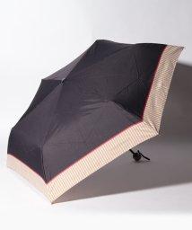 Afternoon Tea LIVING/ヘムストライプ晴雨兼用折りたたみ傘 雨傘/502697008