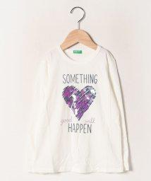BENETTON (UNITED COLORS OF BENETTON GIRLS)/スパンコールハートTシャツ・カットソー/502704694