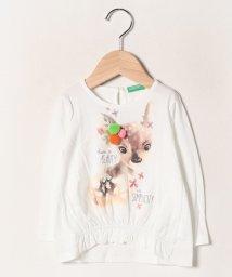 BENETTON (UNITED COLORS OF BENETTON GIRLS)/キュートアニマルぽんぽんTシャツ・カットソー/502704696