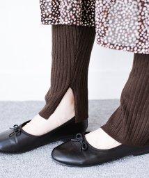 haco!/あったか&オシャレに重ね着できる 便利なリブニットレギンス by style zampa/502713721