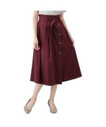 MAC HOUSE(women)/Navy ネイビー サンディング前ボタンベルト付きスカート GL-1239851/502724687