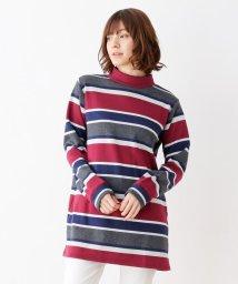 SHOO・LA・RUE/裏シャギーボーダーワンピース/502726004