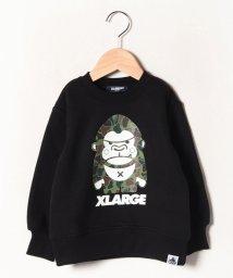 XLARGE KIDS/裏起毛 迷彩ファニーゴリラトレーナー/502713644