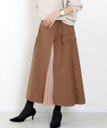 FUNNY COMPANY+/サテンプリーツ使いレイヤードスカート/502727940