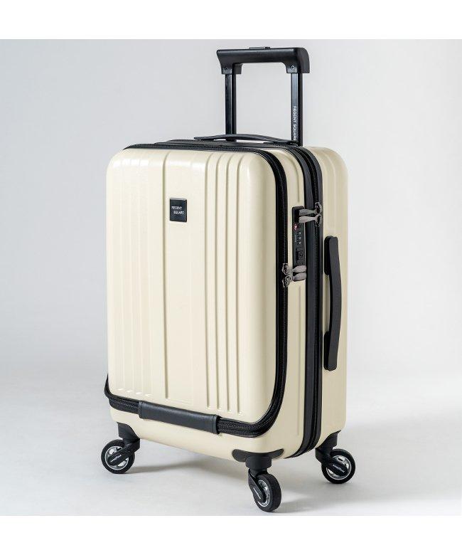 カバンのセレクション リージェントスクエア スーツケース 機内持ち込み フロントオープン 軽量 Sサイズ 39L キャスター交換 ユニセックス ホワイト フリー 【Bag & Luggage SELECTION】