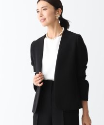 Demi-Luxe BEAMS/Demi-Luxe BEAMS / ダブルクロス ノーカラージャケット 20FO/502738063