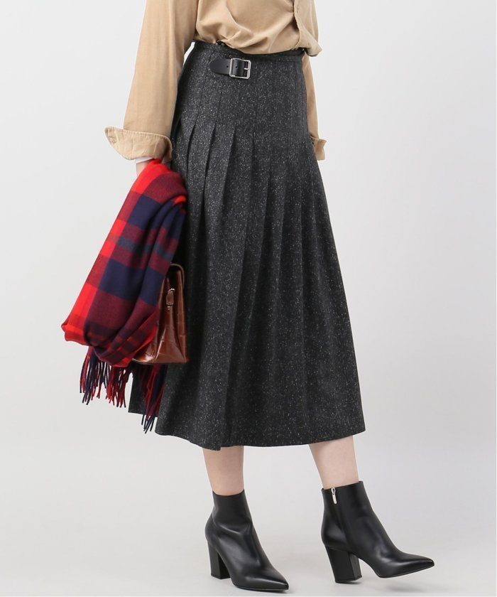 【O'NEIL OF DUBLIN/オニールオブダブリン】LOW WAIST PLEATS WRAP S:スカート