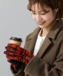 green label relaxing/[タッチパネル対応]手袋 CS SP/ZIP レザートリム/ チェック グローブ/502701716