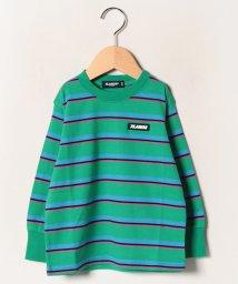 XLARGE KIDS/ボーダーロゴロングTシャツ/502714121