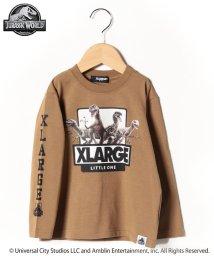 XLARGE KIDS/【ジュラシック・ワールド】 袖ロゴフロントデザインTシャツ/502714122