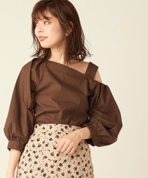 NICE CLAUP OUTLET/【natural couture】ワンショルおしゃれブラウス/502721127