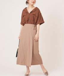 NICE CLAUP OUTLET/【natural couture】ラップ風タイトスカート/502721132