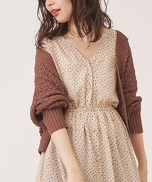 NICE CLAUP OUTLET/【natural couture】テープヤーンざっくりメッシュショートカーディガ/502721137