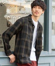 coen/TRブリティッシュチェックオープンカラーシャツ/502721389